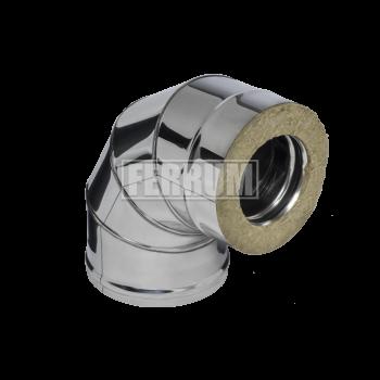 Феррум сэндвич-колено 90* (0,8мм+нерж.) Ф 115х200