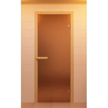 Дверь стеклянная 6мм бронза